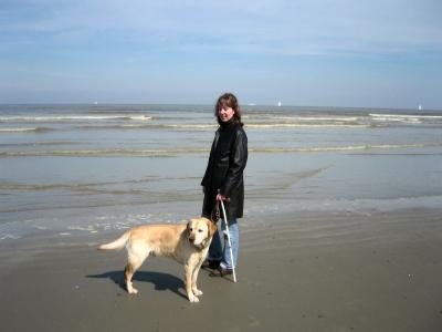 Kim en Zeppo aan zee