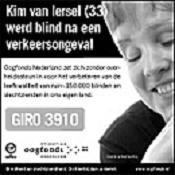 Advertentie van het Oogfonds, de stopper