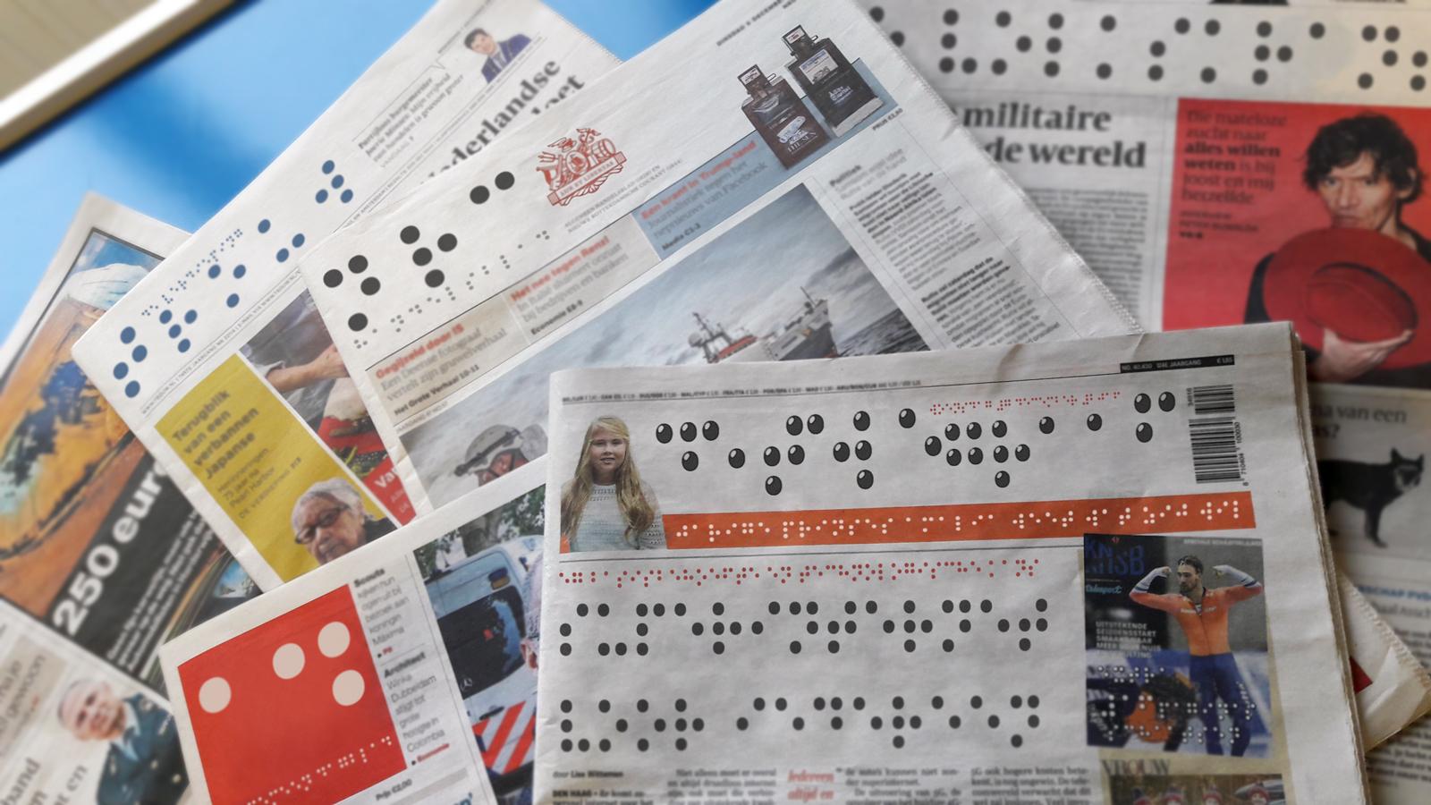 Kranten in braille