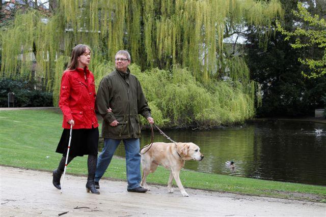 Berry, Kim en Zeppo in het park